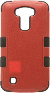 MyBat Cell Phone Case for LG K10 - Retail Packaging - Red/Black