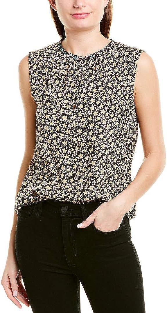 Rebecca Taylor Louisa Floral Silk Sleeveless Top Yellow Combo Sz 8