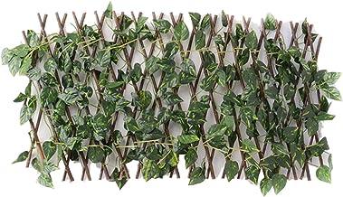 Omheining van de tuin Decoratie Privacy Hout Met Artificial Green Leaf Retractable Uitbreiding Fencing Fit For Courtyard H...