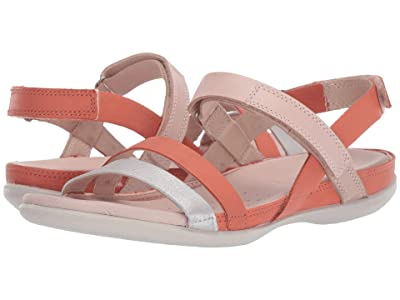 ECCO Flash Ankle Strap Sandal (Alu Silver/Apricot/Rose Dust) Women