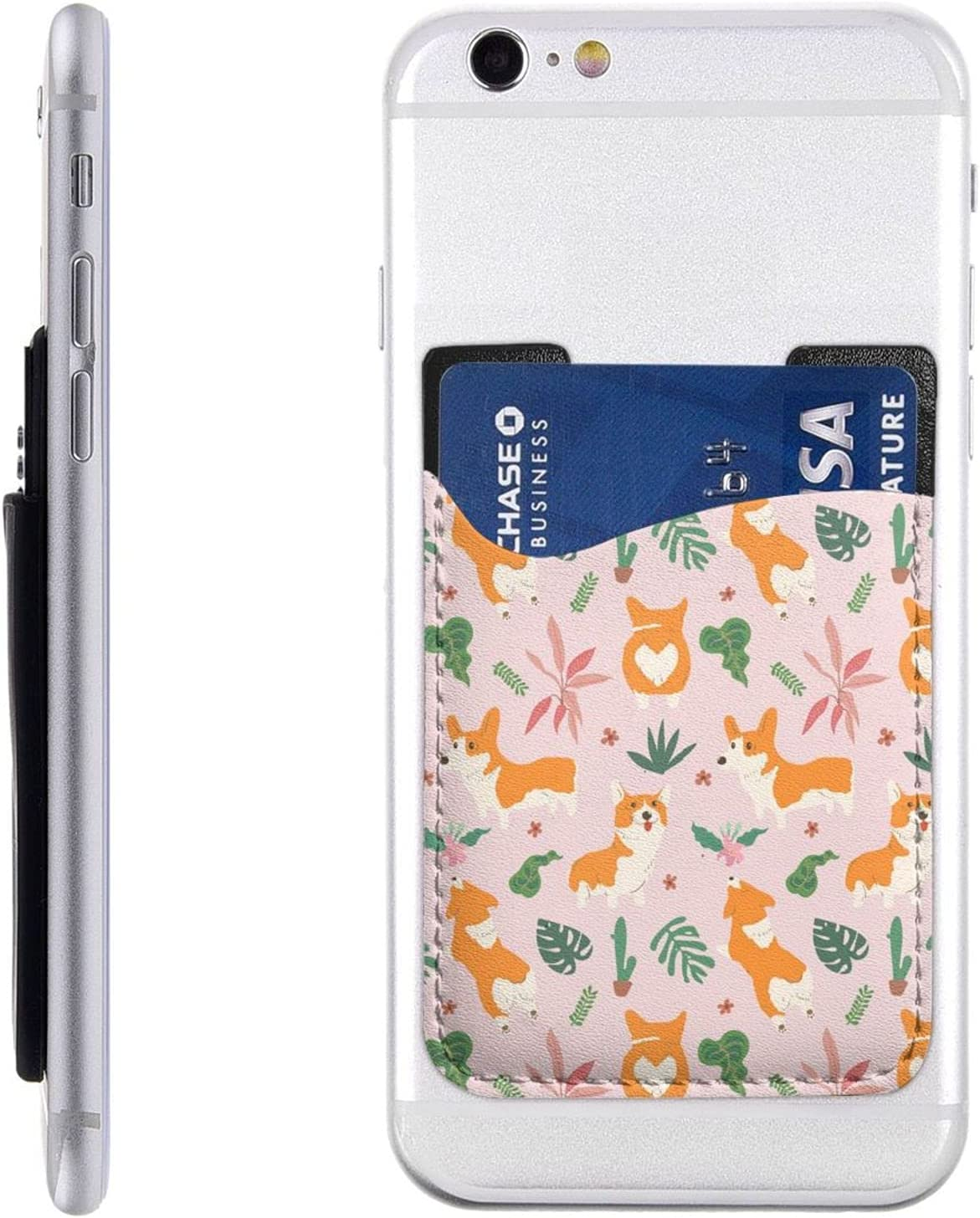 Lovely Max 53% OFF Dog Phone Card Holder Sle Omaha Mall Cell Stick Wallet On