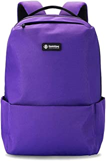tomtoc Anti-Theft Commuting Backpack Fit 15.6 inch Laptop, College School Book Bag Business Travel Shoulder Pack Bag with USB Charging Port, BottomArmor Patent, Purple - 22L