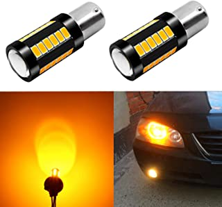 Alla Lighting 2800lm BA15S 7506 1156 LED Turn Signal Light Bulbs Xtreme Super Bright P21W 1156