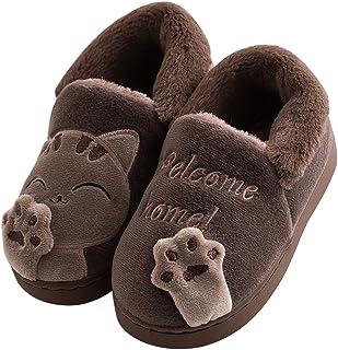unisex Acfoda misura 23-44 da bambina antiscivolo morbide con gatto Pantofole estive