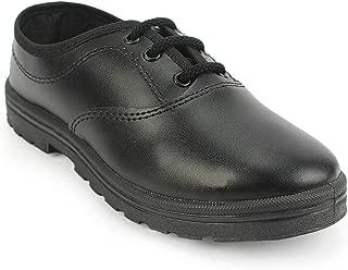 schoolfun Boy's Lace-up Black School Shoes