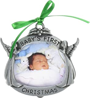 Cathedral Art CO602 Baby's First Christmas Photo Frame Ornament, 2-Inch