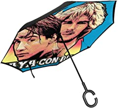 Point Break Hes Not Coming Back Vaya Con Dios Double Layer Inverted Umbrella For Car Reverse Folding Upside Down C-Shaped Hands - Lightweight & Windproof – Ideal Gift