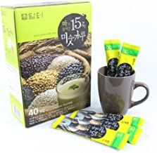 DAMTUH Korean Roast Grain with Yam Tea, 15 Roasted Grains Mixed Powder Breakfast Drink (Misugaru), 20g x 40 Sticks