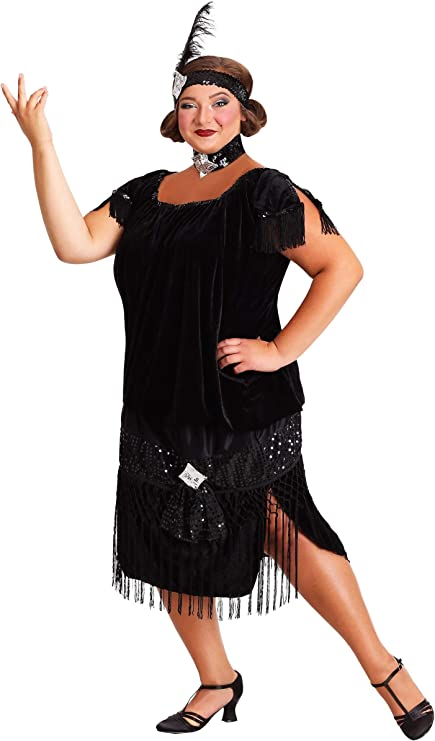 ALIZIWAY 1920s Flapper Dress for Women Plus Size Art Deco Fringed Sequin Roaring 20s Costumes
