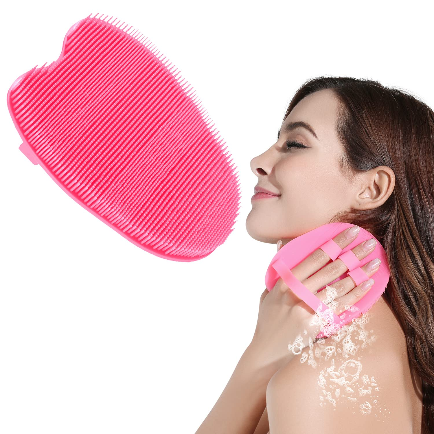 HieerBus Silicone Body Scrubber Brush Loofah Fashionable Wa Bath Exfoliating Challenge the lowest price of Japan