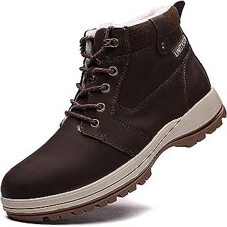 Unitysow Bottes de Neige Homme Hiver en Plein Air Doublure Fourrees Chaude Bottines de Randonnée Trekking Chaussures 39-46 EU