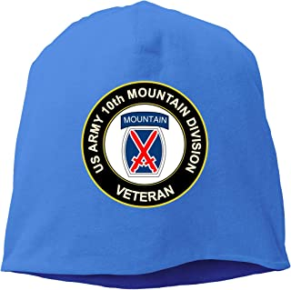U.S. Army Veteran 10th Mountain Infantry Division Unisex Knitted Hat Beanie Hat Warm Hats Skull Cap