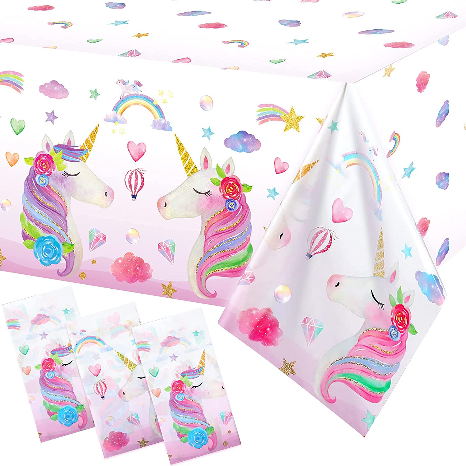 3 Pieces Unicorn SALENEW very popular! Table Cloth Free shipping Tablecloths Covers Plastic