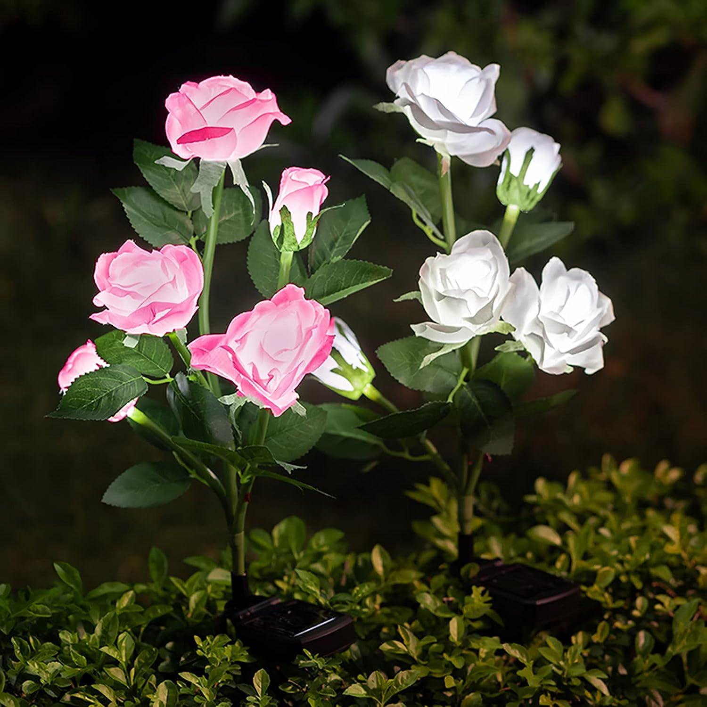 Solar Flower Lights Kansas City Mall Outlet ☆ Free Shipping Outdoor Amposei 2 Powered Garden Pack