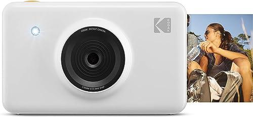 2021 KODAK Mini Shot Instant Print Digital popular Camera LCD Display, Premium discount Quality Full Color Prints (White) None Bluetooth, KOD-MSWNBT outlet online sale