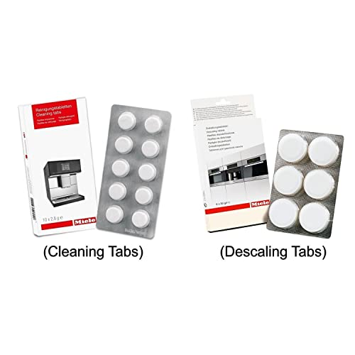 Miele Coffee Machine Cleaning Tablets (10pk) & Descaling Tablets ...