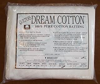 Quilters Dream Cotton White Request, Low Loft Batting - Queen Size 108