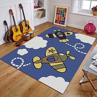 Tapis Chambre Tapis de Salon Style Moderne Petit Plan Jaune Tapis de Chambre, Tapis d'intérieur Moelleux 200X300(79X119inch)