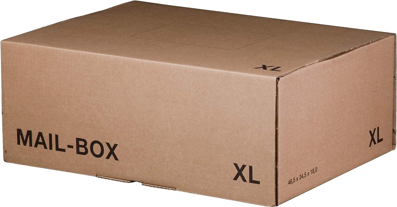 L Versandkartons Versandschachtel M 20 St/ück XS XL in 3 Farben   Movepack S Braun, XS - 244x145x43 mm