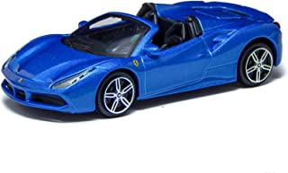 Bburago Ferrari 488 Spider F142M 2015 Blue 1/43 Miniature Collectible Toy Car