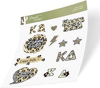 Kappa Delta Sticker Decal Laptop Water Bottle Car (Cheetah Print Sheet)