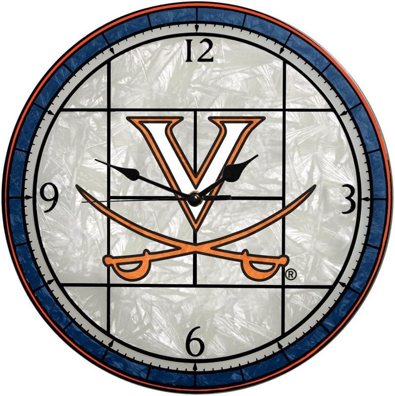 Memory Company Virginia Cavaliers Clock Art 12in 5 ☆ very popular In a popularity Glass