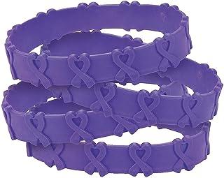 Purple Awareness Pop-Out Bracelets (24 pieces)