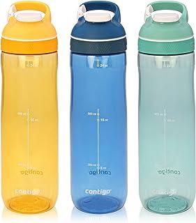 Contigo AUTOSEAL Cortland 锁扣吸管水杯 Marigold, Monaco & Greyed Jade 3-Pack 3 件装