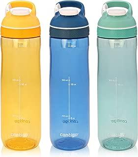 Contigo AUTOSEAL Cortland Water Bottles, 24 oz, Marigold/Monaco/Grayed Jade, 3-Pack