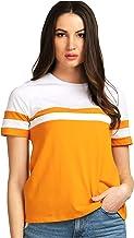 AELOMART Women's Cotton Regular Top(AWT2053-Pn)