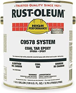 Rust-Oleum High Performance C9578 Coal Tar Epoxy, 1.125-Gallon Kit with C9502504 Activator