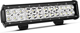TURBOSII 12 Inch Led Light Bar 72W Light Bar Led Light 12V LED Work Light Spot Flood Combo Beam Driving Lights Fog Lights For ATV UTV Truck Boat Jeep Cars ,1PCS