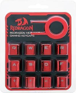 أغطية مفاتيح حمراء اللون مطلية بالكهرباء مع مفتاح سحب لمفتاح A103R من Redragon