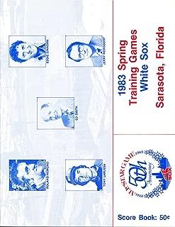 Spring 1983 Chicago White Sox Toronto Blue Jays Program