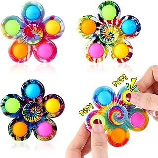 Effacera Pop Fidget SpinnerToys 4 Pack, Tie-Dye Popper...