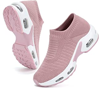 DimaiGlobal Women's Walking Shoes Sock Sneakers Slip On Comfort Mesh Fashion Air Cushion Lady Girls Modern Jazz Dance Easy...