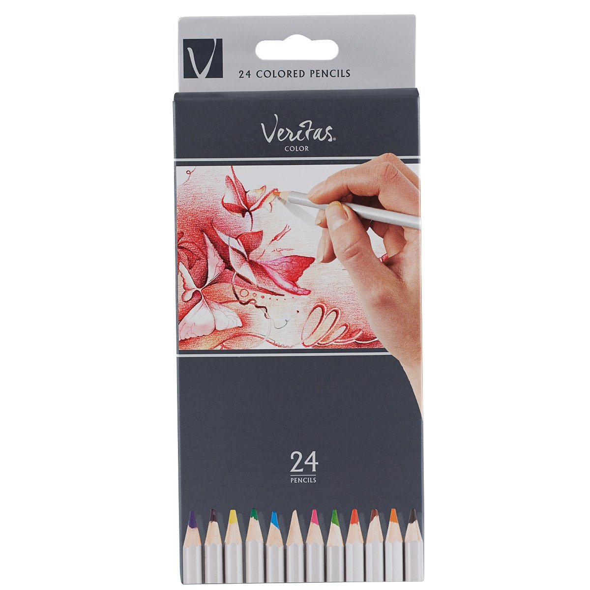 Veritas Colors Art & Craft Colored Pencils (Assorted Colors 24-Count Pack)