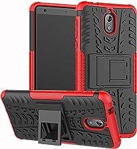 Coque Nokia 6 2018 KKEIKO Etui en Cuir pour Nokia 6 2018 Orange Housse Portefeuille en Cuir avec Motif Papillon Flip Case pour Nokia 6 2018