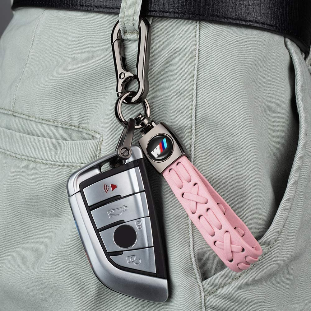 M Keychain Keyring Family Present accessories 1Pack Leather Key Chain Suit for BMW 1 3 5 6 Series X5 X6 Z4 X1 X3 X7 9 Series