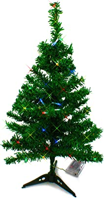 afe244e13ee Cypressshop Mini Artificial Christmas Tree 2 Feet Tabletop X Mas Tree Green  with Multi Color