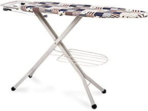 HOUZIE Self Standing - Extra Large Foldable Ironing Board with Ironing Table with Iron Stand Premium Metal Ironing Board
