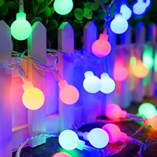Ollny Globe String Lights 100 LEDs 33ft for Bedroom Indoor Outdoor Fairy String Lights Multi Color for Christmas Wedding Party Garden Decoration with Remote Timer Plug in Waterproof NOT CONNECTABLE
