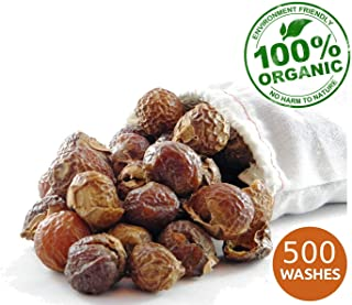 NaturalThings Organic All Natural Laundry and Dishwashing Detergent Soap Nuts/Berries. Fair Trade, Sustainable & Green Laundry (500 Loads).Premium Grade + Wash Bags (2.2 Pounds)