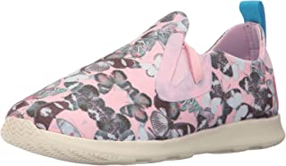 Native Kids Girls' Apollo Moc Print Junior Sneaker Prspnk/Bnwht/Btfly 1 M US Little Kid