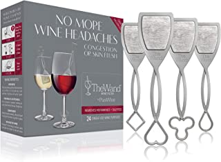 PureWine Wand Purifier Removes Histamines and Sulfites - Reduces Wine Allergies & Eliminates Headaches, Aerates Restoring ...