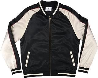 Solid Color Block Jacket - Black/Gold