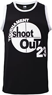 MOLPE Men's 23 Tournament Shootout Jersey Basketball Jersey S-XXXL Black, 90S Hip Hop Clothing, Stitched Letters and Numbers