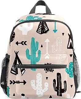 Mochila infantil para niños de 1 a 6 años de edad, mochila perfecta para niños y niñas, cactus negro y verde, flecha moderna