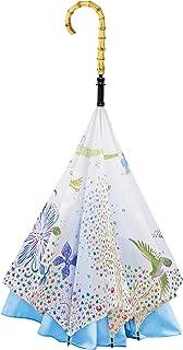 【CARRY saKASA (キャリーサカサ) 切り絵デザインモデル】 逆折り式傘 逆さ傘 濡れない UVカット 高撥水 おしゃれ 可愛い