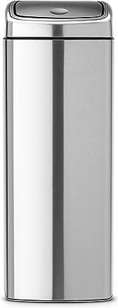 Brabantia 矩形触摸棒,25 升 - 亮钢 亮灰色 25litre 384929